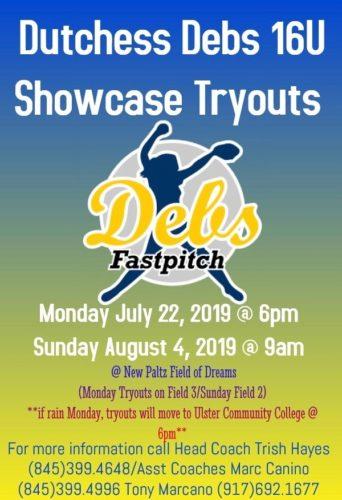 Dutchess Debs 16U Showcase tryouts
